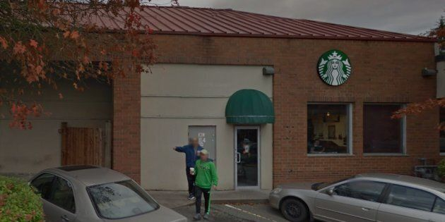 The Starbucks in Burnaby where the alleged punch took
