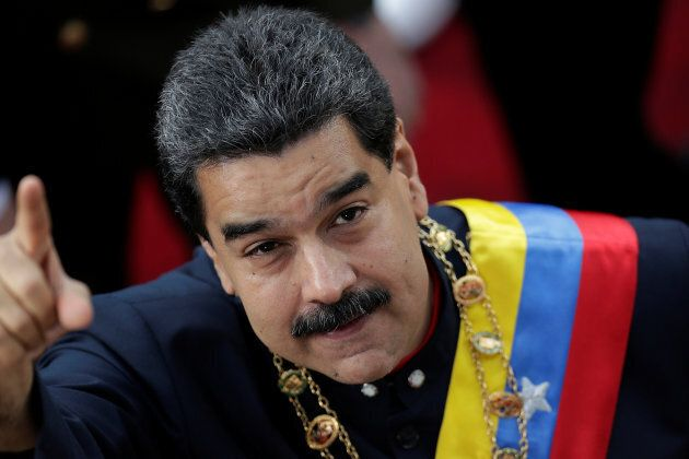 Venezuela's President Nicolas Maduro was caught unaware by U.S. President Donald Trump's comments about...