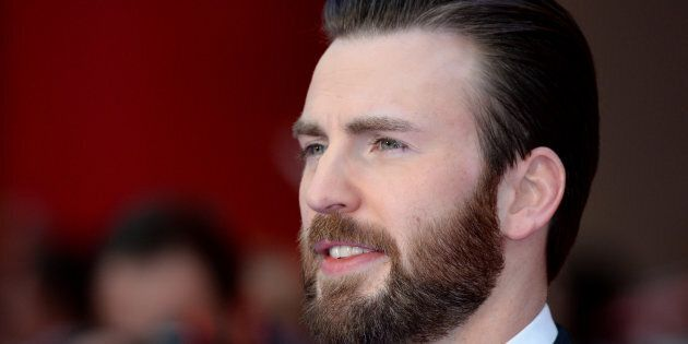 Chris Evans attends the European premiere of 'Captain America: Civil War' on April 26, 2016 in London,