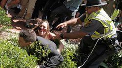 Protester Tackles Organizer Of Deadly Virginia Rally At Press