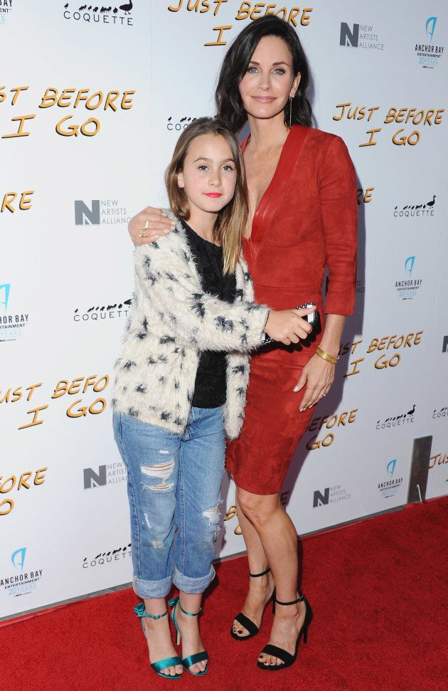 Courteney Cox and daughter Coco Arquette arrive at the Los Angeles Special Screening of 'Just Before...