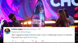Teen Vogue's Twitter Ditches Teen Choice Awards Coverage For