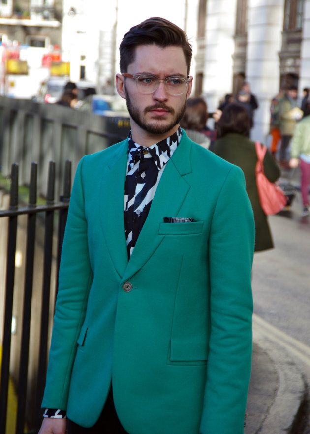 Young fashionably dressed man in London, England.