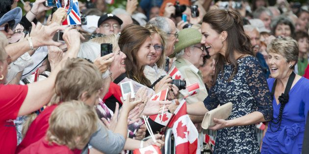 The Duchess Of Cambridge at The National War Memorial In Ottawa, Canada, on the first day of their visit in 2011. (Photo by POOL - UK Press\UK Press via Getty Images)