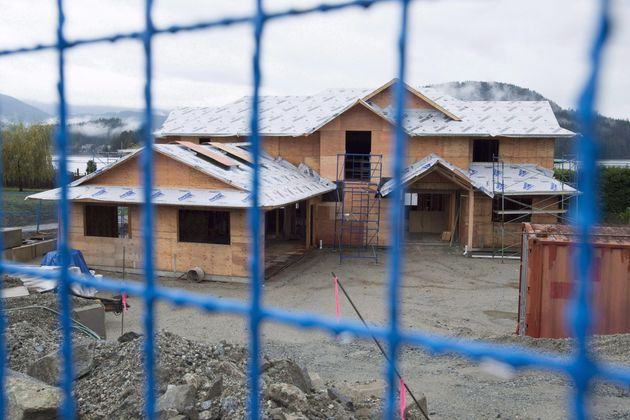 A new home is under construction in North Vancouver, B.C. Thursday, Oct. 27,