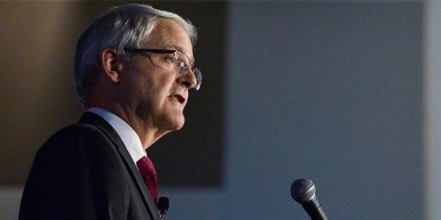 Transport Minister Marc Garneau shares remarks during a luncheon in Ottawa on July 4,
