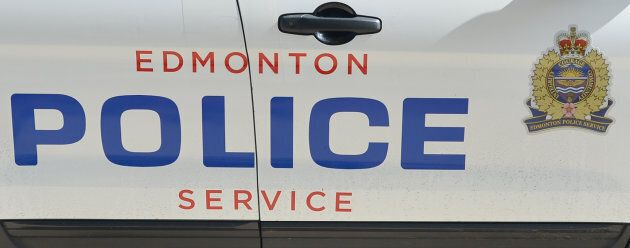 A view of the Edmonton Police sign on a police car on July 12,