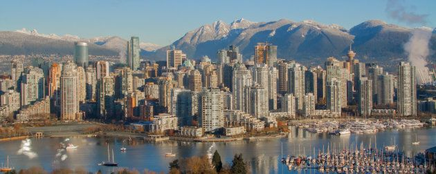 The downtown core of Vancouver,