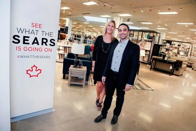 Sears Canada Executive Chairman Brandon Stranzl and Executive vice-president and Chief Operations Officer,...