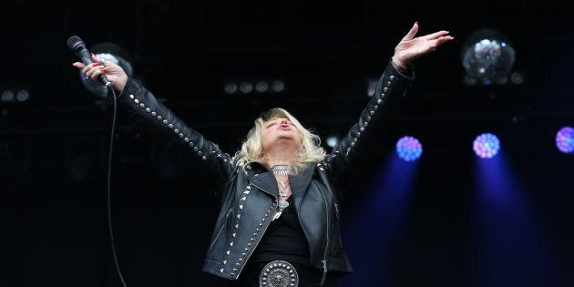 Bonnie Tyler performs on stage at Punchestown Music Festival on July 30, 2017 in Naas, Ireland. (Photo...