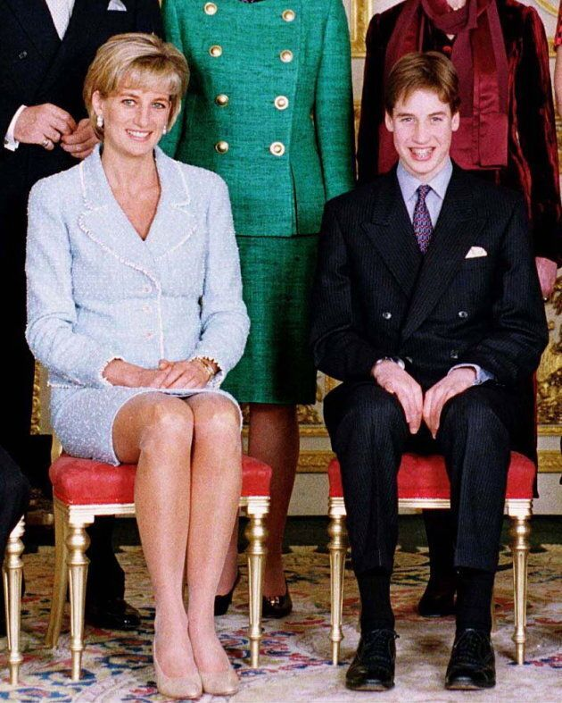 Prince William at confirmation with Princess Diana at Windsor Castle on March 6, 1997. (Photo by Tim Graham Picture Library/Getty Images)
