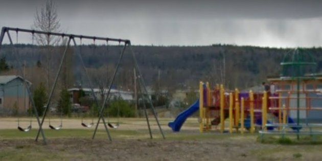 Harwin Elementary School's playgound in Prince George,