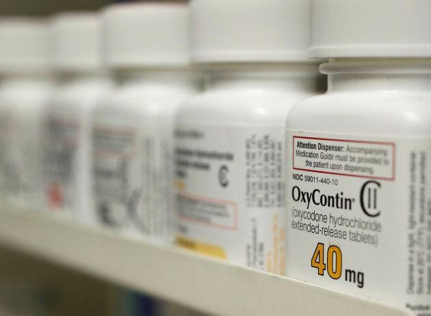 Bottles of prescription painkiller