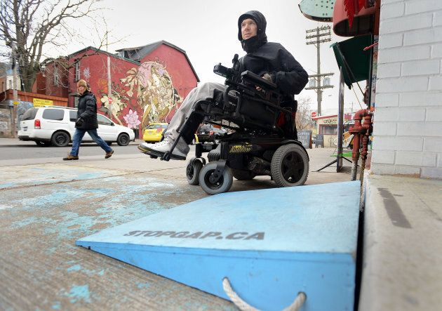 Luke Anderson is a structural engineer, who uses a wheelchair and got tired of being blocked from stores with one step. He started StopGap — an initiative that supplies free ramps to stores with a one-step entrance.