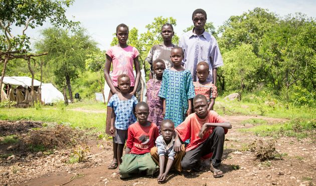 Emanuel, Agnes, their five children and the three brothers they now