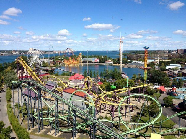 Aerial view of Montreal's La Ronde amusement