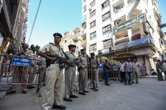 Tightened security measures are taken as an Egyptian court condemns 638 Morsi backers to death in a mass...