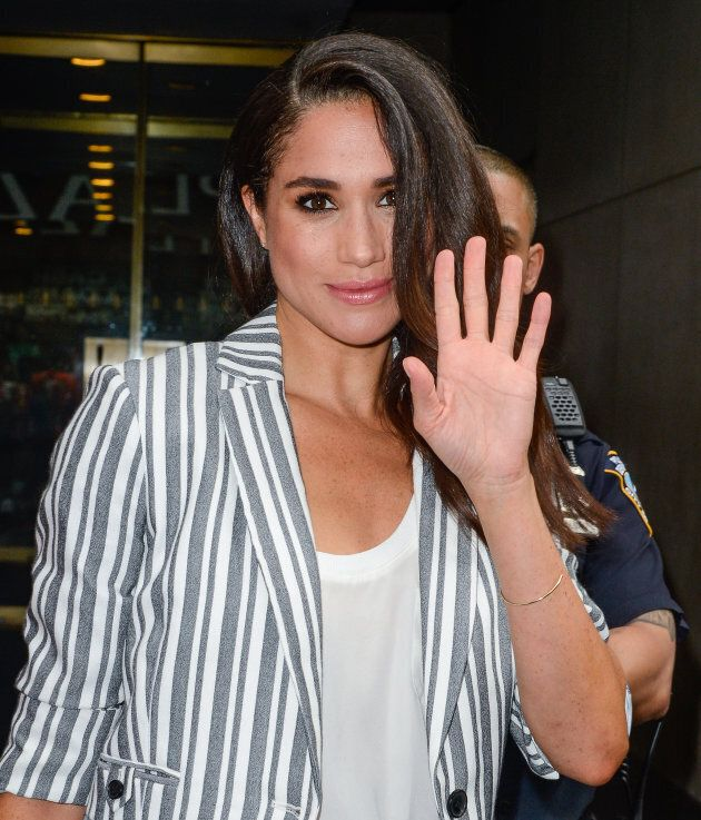 Meghan Markle leaves the 'Today Show' taping at NBC Rockefeller Center Studios on July 14, 2016 in New York City.  (Photo by Ray Tamarra/GC Images)