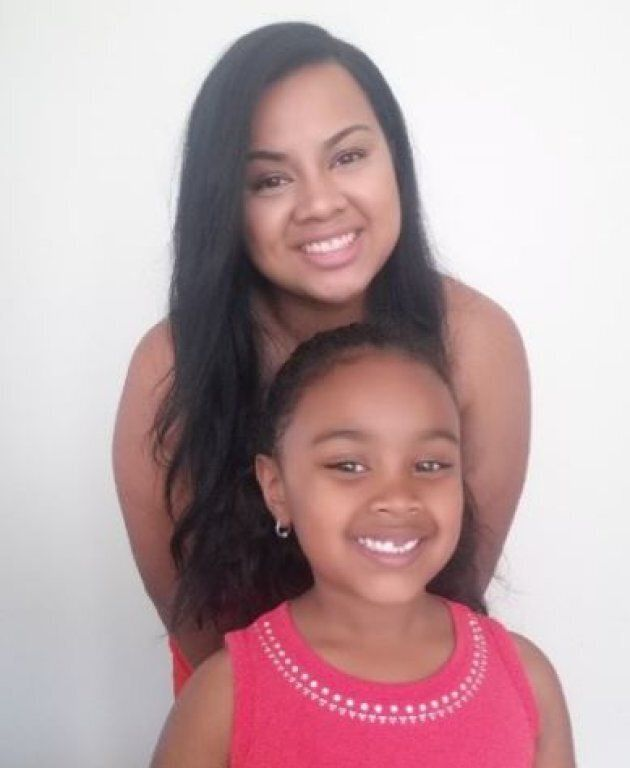 Ashley Gallego and her daughter,
