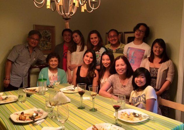 My parents, sisters, paternal grandmother and I with my dad's side of the family in Vancouver,