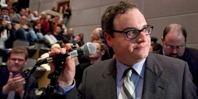 Right-wing political commentator Ezra Levant is shown at the University of Ottawa in Ottawa on March 23, 2010.