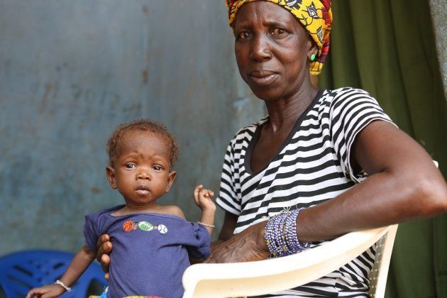 Baby Fatima returned to her mother's village at two months old to be taken care of by her grandmother, Sia Gbandawa.