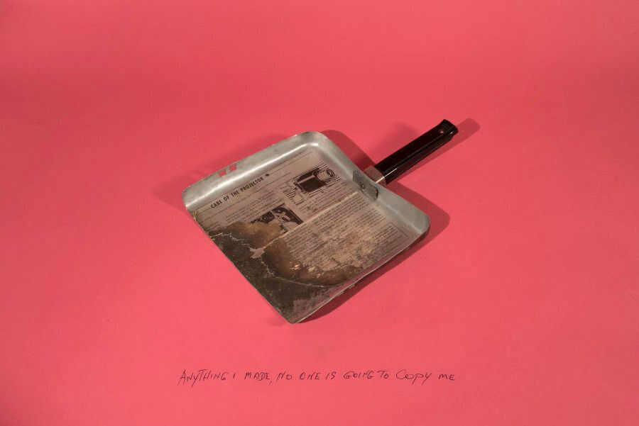 Lejb Pilanski made this dustpan out of a lid from a film projector and pot handle. Pilanski's grandson...