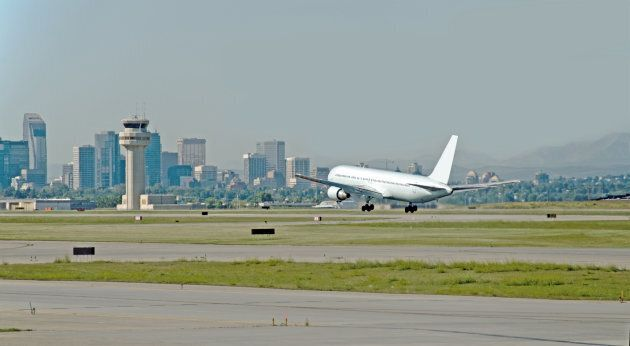 A passenger plane lands in this file photo of Calgary International