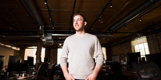 Michael Kitchen, CEO of Wealthsimple, poses for a photograph at his office in Toronto on Thursday April...