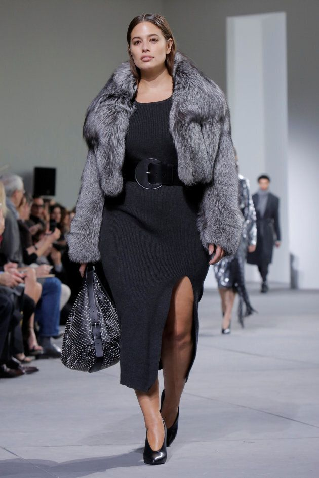 Ashley Graham walks during the Michael Kors Autumn/Winter 2017 collection at New York Fashion Week, February...