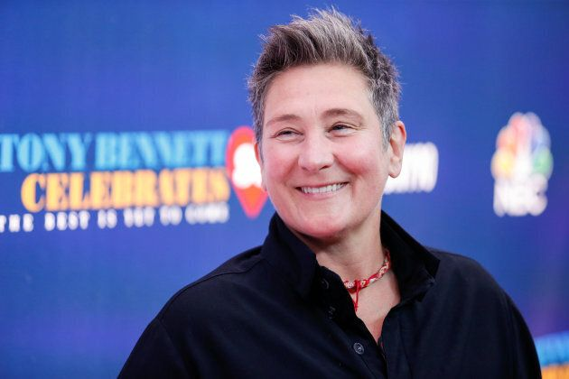 Singer k.d. lang walks on the red carpet for
