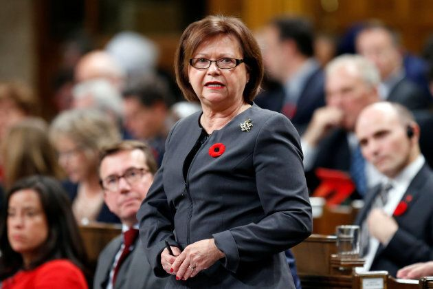 Judy Foote speaks during Question Period in the House of Commons October 31,