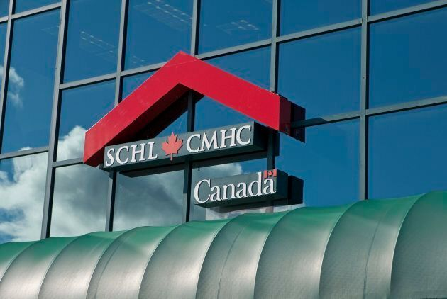 The CMHC logo is seen on a Quebec City office building, September 15, 2010. The CMHC received a report...