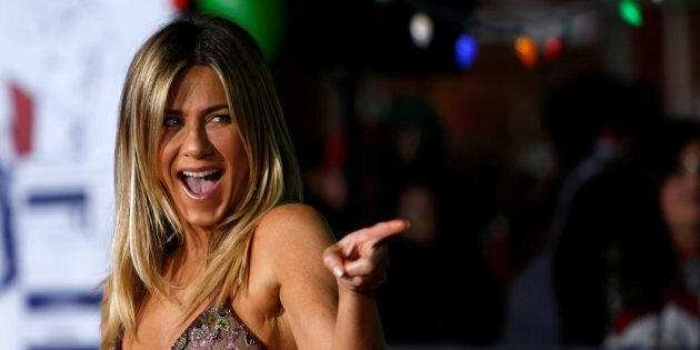 Jennifer Aniston poses at the premiere of