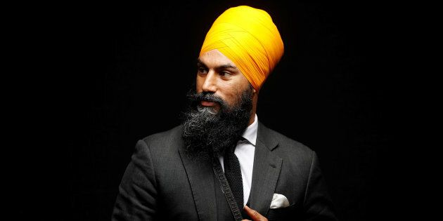NDP leadership candidate Jagmeet Singh poses for a picture in Brampton, Ont. on July 13,