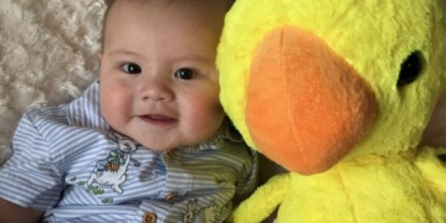 Hunter, a five-month-old baby, was killed in an Edmonton fire last week. Police have arrested two people...