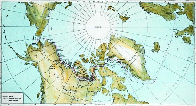 Roald Amundsen's route through the Northwest