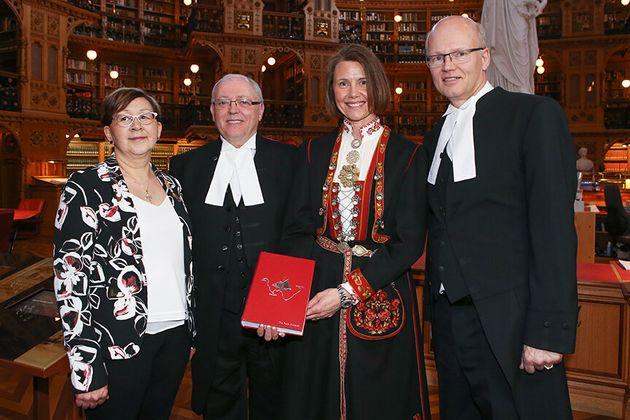 Ambassador Ovind with the Commissioner of Nunavut, the Speaker of the House and the Speaker of the