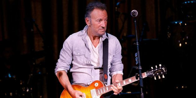 Bruce Springsteen performs during the Asbury Park Music & Film Festival, at the Paramount Theatre on...