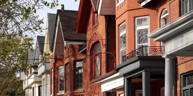 A row of Victorian houses in Toronto's inner city. The average price of a detached home in Greater Toronto...