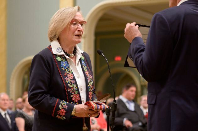 Carolyn Bennett is sworn in as minister of Crown-Indigenous relations and northern affairs during a ceremony...