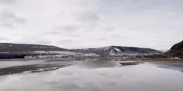 The Site C Dam location is seen along the Peace River in Fort St. John, B.C. on April 18,
