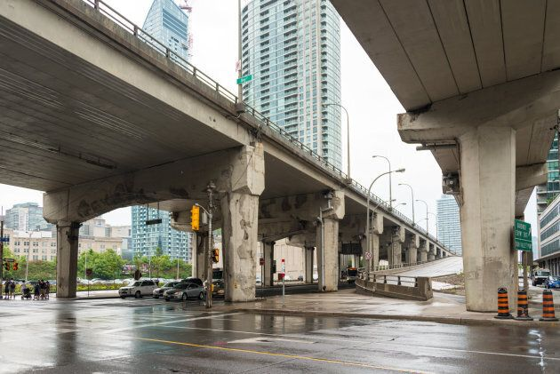 The east part of the Gardiner Expressway was slated for