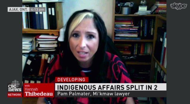 Mi'kmaw lawyer Pam Palmater speaks to CBC news on Aug. 28, 2017 about the federal government's decision to rehaul its Indigenous affairs department into two ministries.