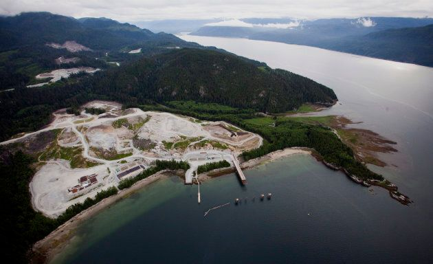 The Kitimat LNG site stands on the Douglas Channel in this aerial photograph taken near Kitimat,
