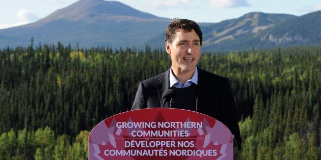 Prime Minister Justin Trudeau announces federal and territorial funding to improve access to mineral-rich...