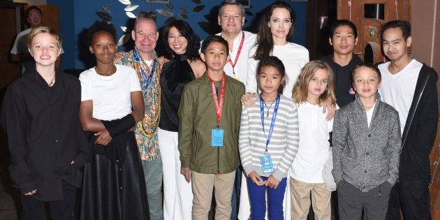 Shiloh Jolie-Pitt, Zahara Jolie-Pitt, Peter Sellars, Loung Ung, Kimhak Mun,Ted Sarandos, Sareum Srey...