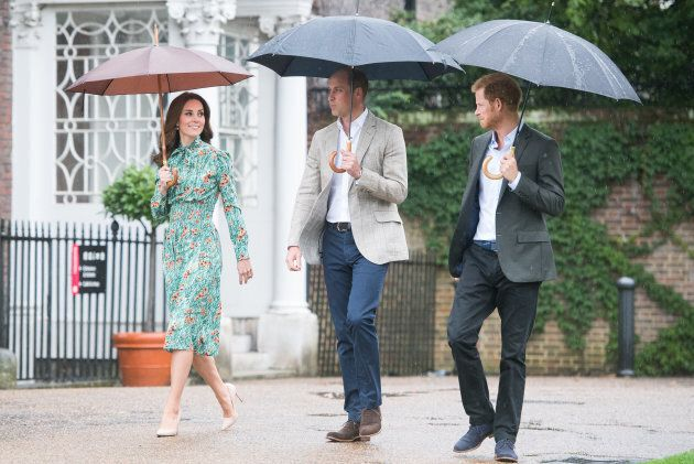 Prince William, Duke of Cambridge, Catherine, Duchess of Cambridge and Prince Harry visit The Sunken...