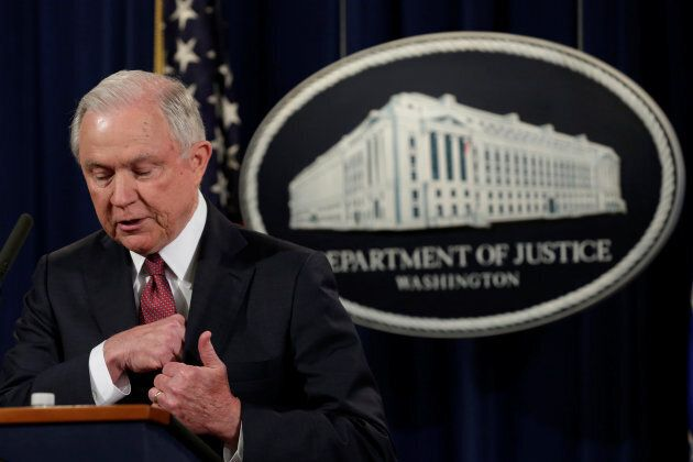 U.S. Attorney General Jeff Sessions speaks at a news conference to address the Deferred Action for Childhood...