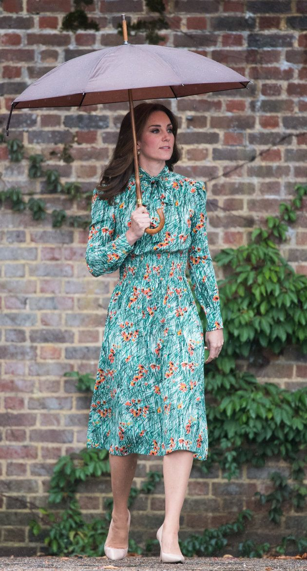 Catherine, Duchess of Cambridge visits The Sunken Garden at Kensington Palace on August 30, 2017 in London,...